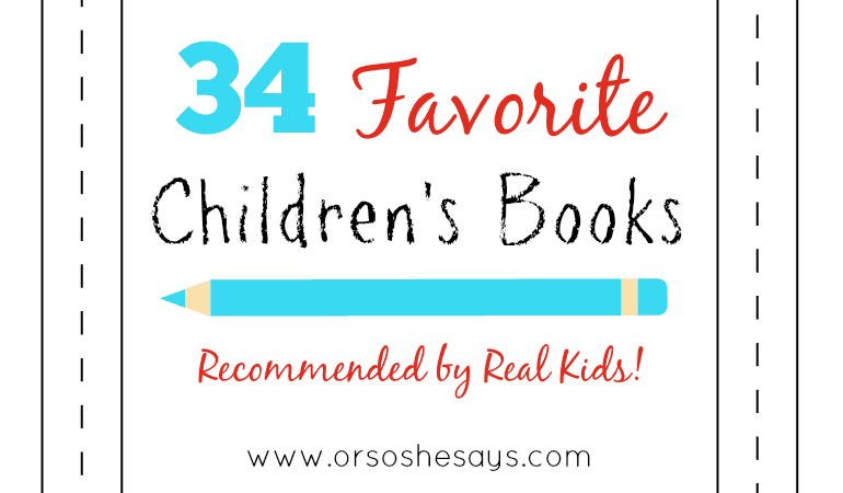 Mariah has a round up of children's books that are recommended by REAL KIDS and their parents. Check out the list and add to your home library! www.orsoshesays.com