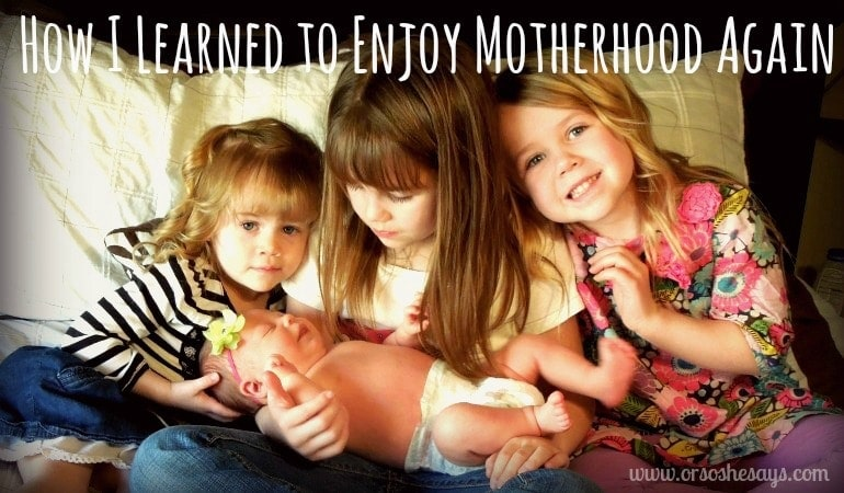 How I Learned to Enjoy Motherhood Again (she: Elise)