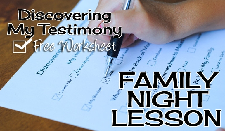 This family night lesson will help you uncover the testimony already growing inside each of your children's hearts. It is empowering and important for them to know that they do have a testimony! Get all the info on the the blog today: www.orsoshesays.com.