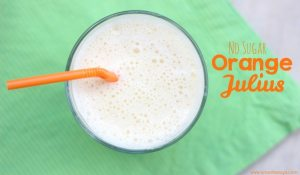 We've got a great, no-added-sugar recipe for Orange Julius today on the blog! Enjoy a refreshing drink in the heat of summer and feel good about offering it to the kids! www.orsoshesays.com