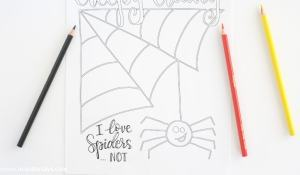 This free printable halloween coloring page will give your kids the creepy crawlys and have them super excited for Halloween.