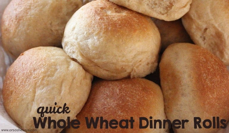 Quick Whole Wheat Dinner Rolls (she: Leesh and Lu)