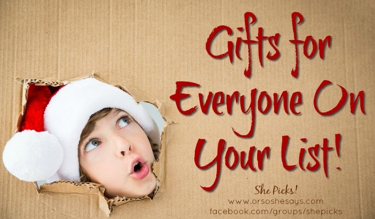 Gift Ideas for EVERYONE On Your List!! ~ She Picks! 2017