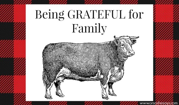 Being grateful for family