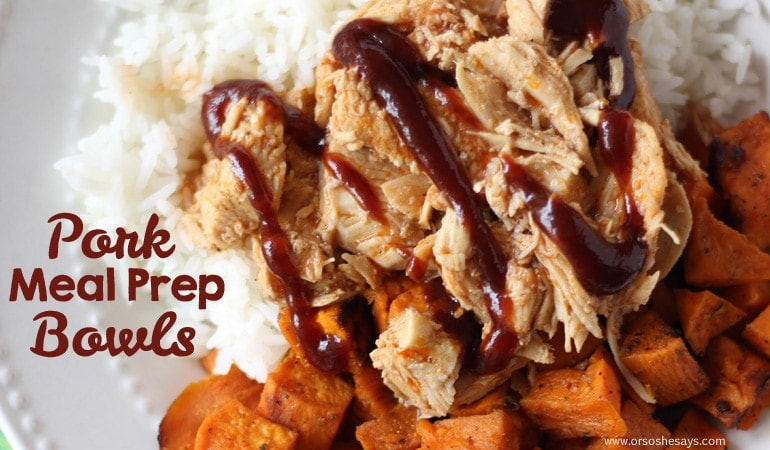 Meal Prep Bowls – Pork and Sweet Potato (she: Leesh & Lu)