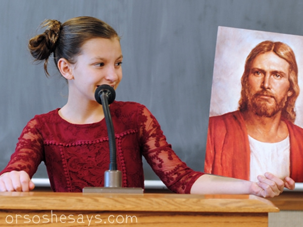 """Each month, we provide free printable primary talks based on the LDS General Primary Theme. The month of March is """"Jesus Christ is my Savior."""" What could be better? Get the free downloads at www.orsoshesays.com"""