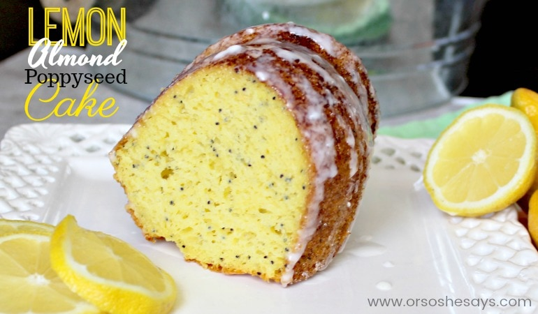 There are different variations to this lemon bundt cake that are super easy to make. Our favorite is the way it is made in the video & in the recipe instructions, with lemon, almond and poppy-seed, but you can experiment if you're not a lemon lover *gasp*! Get all the info on www.orsoshesays.com. #OSSSFeedtheFamily #OSSSDesserts #OSSS #orsoshesays #mormonblogger #mormon #ldsblogger #lds #lemoncake #lemonbundtcake #lemonalmondpoppyseedcake #bundtcake #dessert #lemoncake #poppyseedcake #almondcake