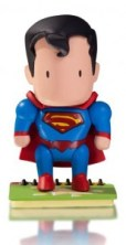 A figure of Superman From Scribblenauts Unmasked.
