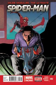 Miles Morales is the Ultimate Spiderman (Cover of Marvel's Miles Morales: Ultimate Spider-man #2, by David Marquez)