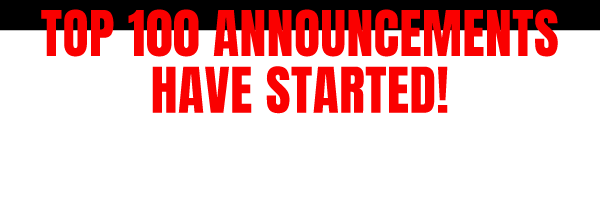 announcements have started
