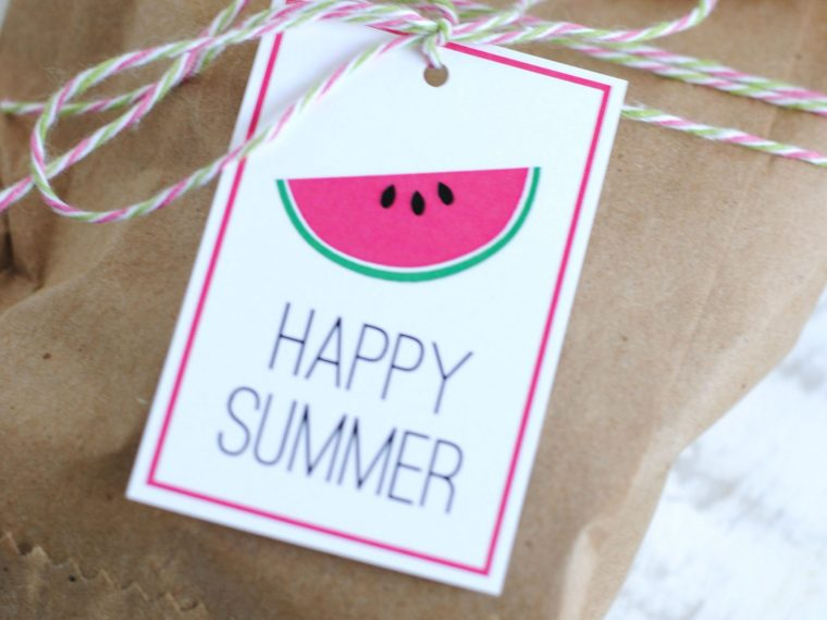 Free printable Happy Summer Gift Tags