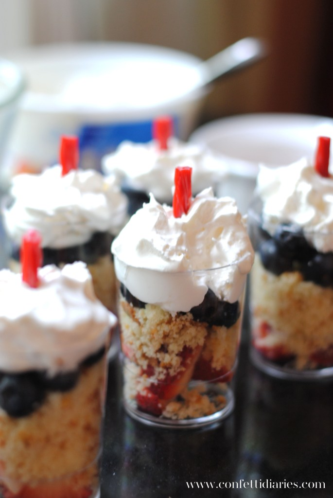 Patriotic Firecracker Fruit Parfaits