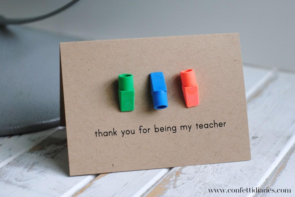 DIY Teacher Thank You Cards