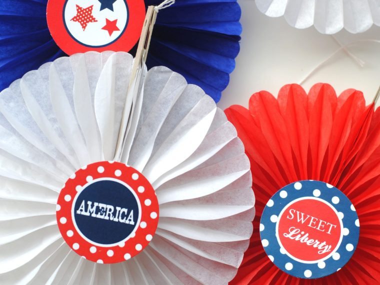 Fourth of July Paper Rosettes