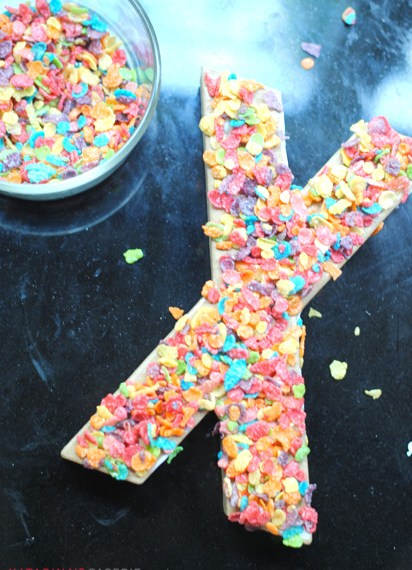How to make cereal paper mache letters