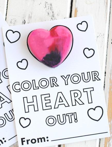 Free Printable Crayon Valentine Card