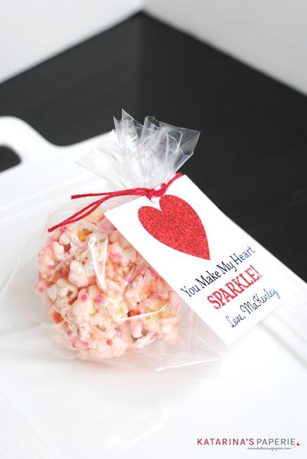 Valentine popcorn ball