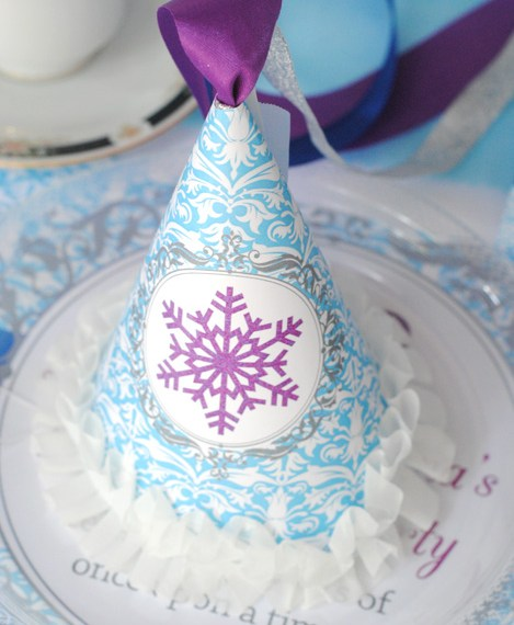 How to make an ice princess party hat
