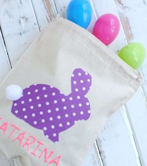 How to make easy no sew bunny gift bags