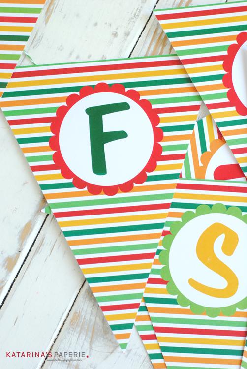 Free Printable Fiesta Bunting