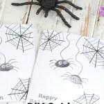 DIY Spider Thumbprint Cards for Kids