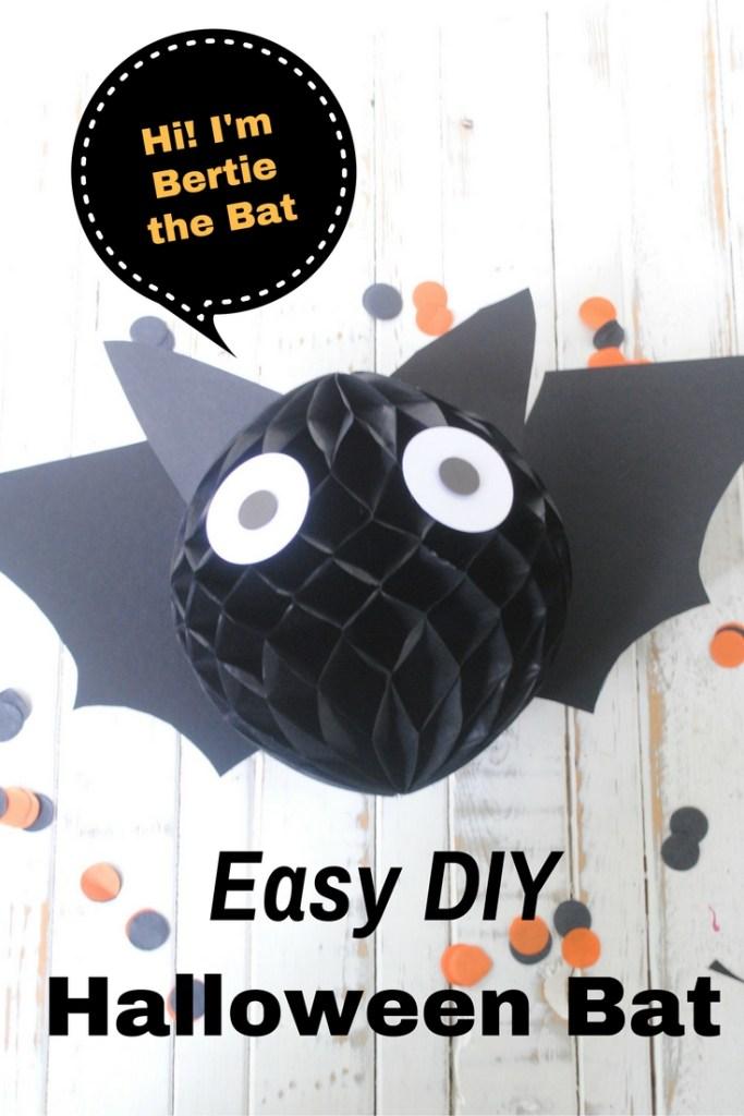 DIY Halloween Bat Decoration