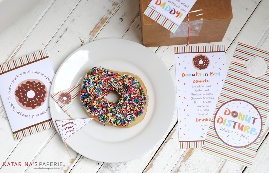Free printable Father's Day breakfast