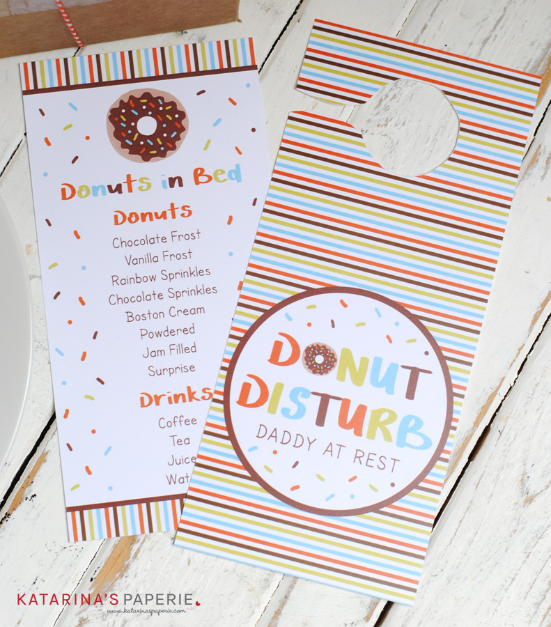 Father's Day donut door hanger