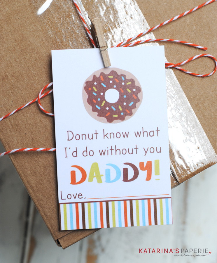 Free printable donut Father's Day gift tag