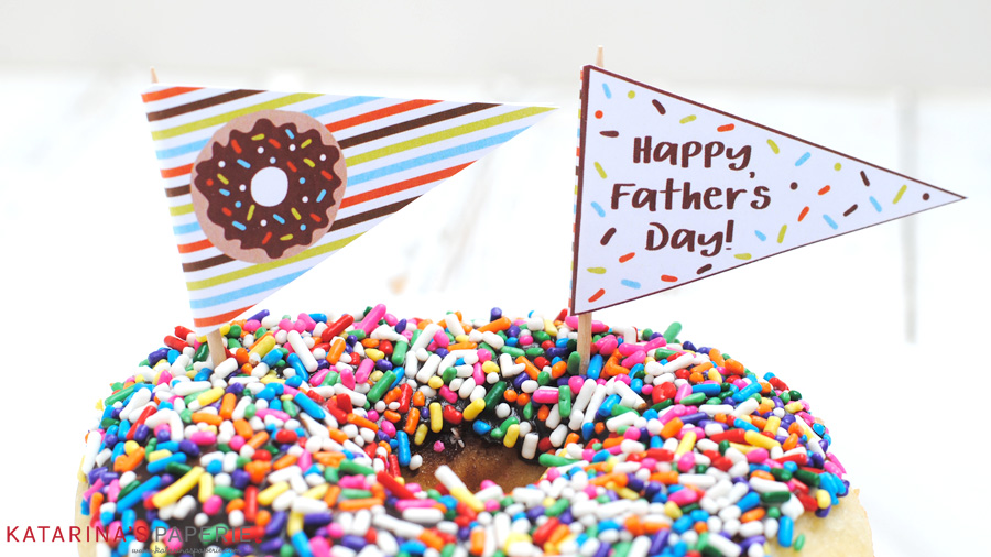 Free printable donut straw flags