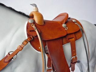 The Grey with a replica Al Stohlman tan saddle