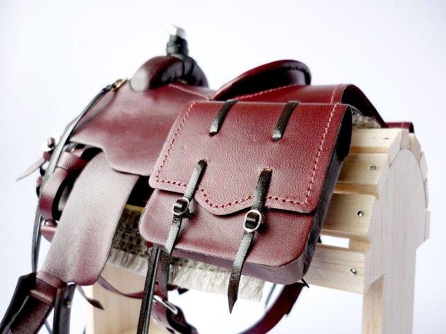 Mahogany saddle detail