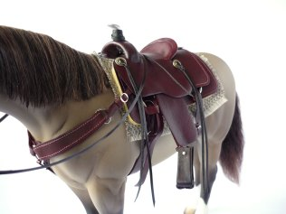 Mahogany saddle