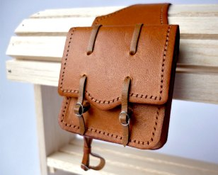 Tan saddlebags
