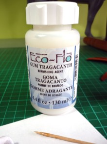 Gum Tragacanth used for burnishing edges on leather