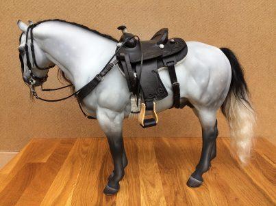 black embossed saddle
