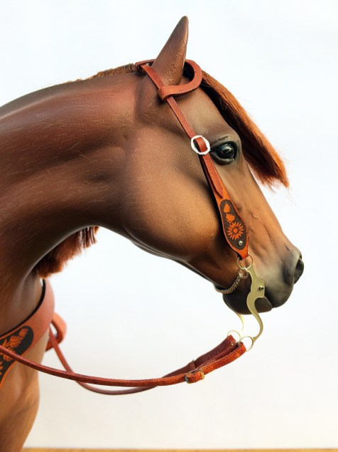 laser etched 1/6 scale bridle with etched bit