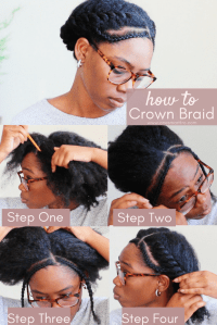 How To Do Halo Braid Natural Hair - One Smart Fro