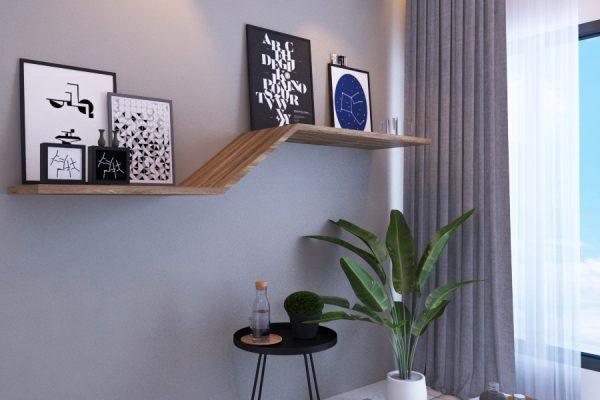 Bedroom 1 wall rack