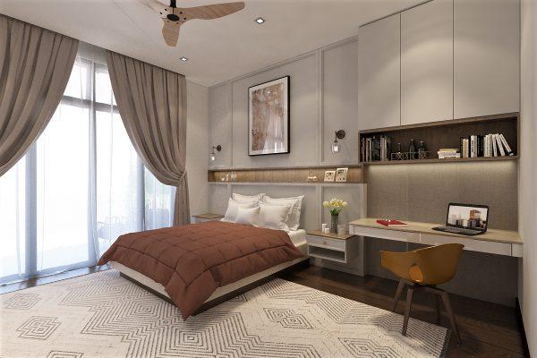 Master Bedroom - Bedhead & Study