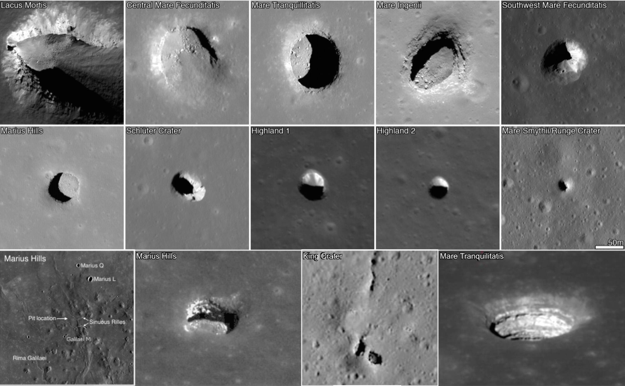 Moon caves