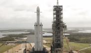 Falcon heavy on launchpad