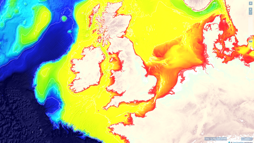 north sea depth map_vliz