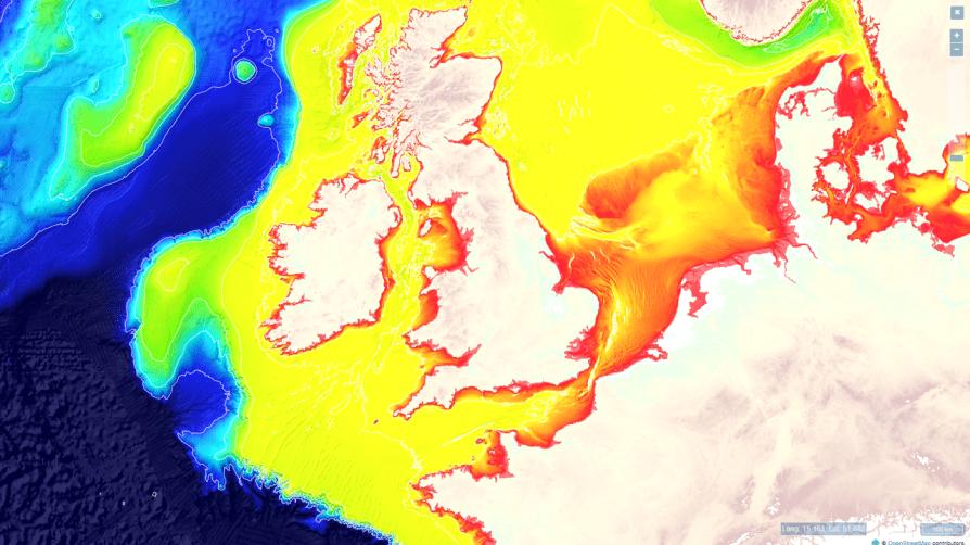 north sea depth map_vliz