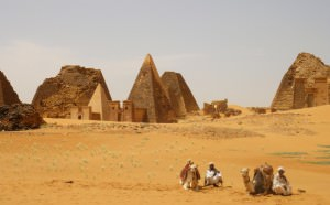 The pyramids in Sudan