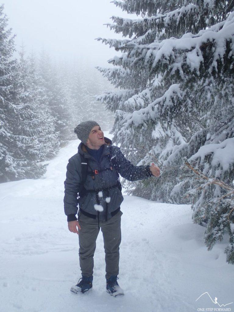 Zima w pełni - w drodze na Gęsią Szyję