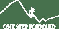 One Step Forward - logo (wersja biała)