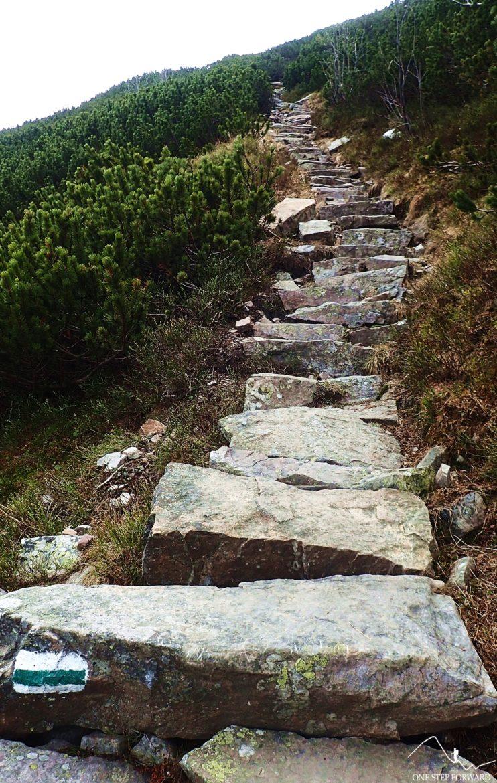 Kamienne schodki prowadzą nas na Suchy Wierch Ornaczański (1832 m n.p.m.)