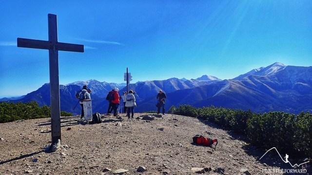 Krzyż na szczycie Grzesia w Tatrach Zachodnich
