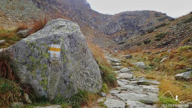 Żółty szlak na Krzyżne z Doliny Pańszczycy